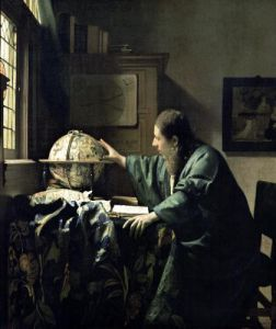 The Astronomer 1668 by Johannes Vermeer
