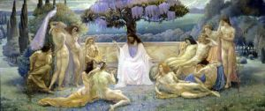 The School of Plato 1898 by Jean Delville