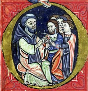 Peter the Hermit gives out crosses by Anonymous