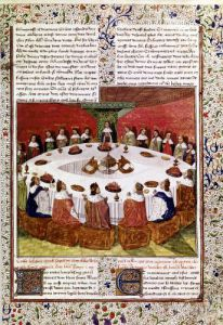 The Round Table and the Holy Grail Gaultier Map 1470 by French School