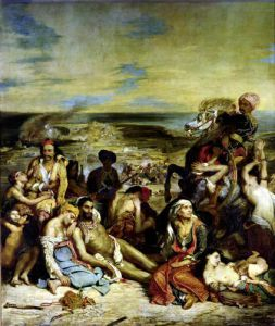 Scenes from the Massacre of Chios 1822 by Eugene Delacroix