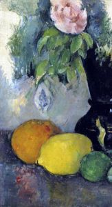 Flowers and Fruit c.1886 by Paul Cezanne
