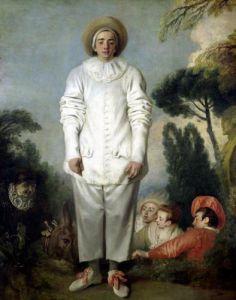 Gilles c.1718 by Jean Antoine Watteau