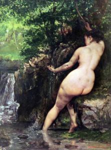 The Source or Bather at the Source 1868 by Gustave Courbet