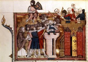 The Crusader assault on Jerusalem 1099 by Anonymous