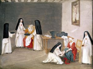 Caring for the Sick c.1710 by Louise Madelaine Cochin