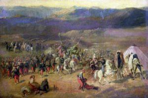 The Capture of the Retinue of Abd-el-Kader 1844 by Emile Jean Horace Vernet