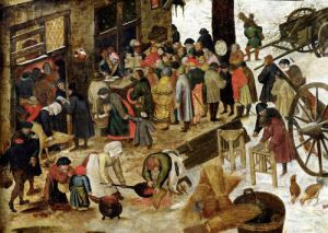 The Payment of the Tithe 1566 by Pieter Brueghel The Younger