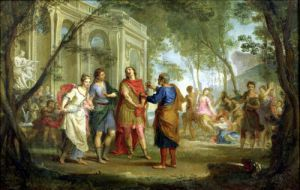 Roland Learns of the Love of Angelica and Medoro by Louis Galloche