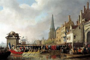 Entry of Bonaparte as First Consul into Antwerp 1807 by Mathieu Ignace van Bree