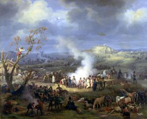 Napoleon visiting a Bivouac on the Eve of the Battle of Austerlitz 1808 by Louis Lejeune
