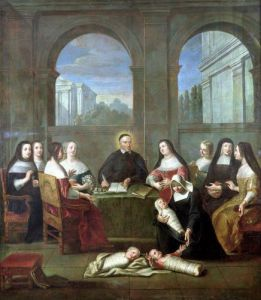 St. Vincent de Paul and the Sisters of Charity c.1729 by Jean Andre