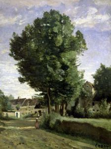 Outskirts of a village near Beauvais c.1850 by Jean-Baptiste-Camille Corot