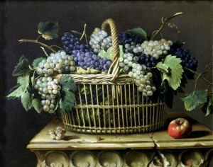 A Basket of Grapes by Pierre Dupuis
