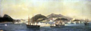 The Second Battle of Shimonoseki 1868 by Jean Baptiste Henri Durand-Brager