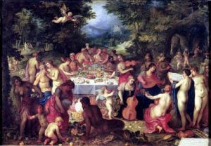 The Banquet of the Gods by Hendrik Van Balen The Elder