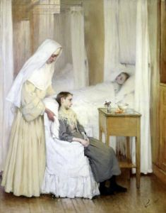 At Notre-Dame du Perpetuel Bon Secours Hospital 1903 by Henry Jules Jean Geoffroy