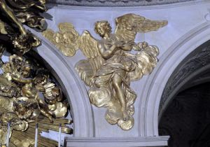 Louis XIV style angel from the arch of the High Altar in the Chapel by French School