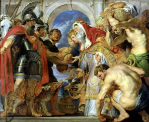 Abraham and Melchizedek 1615 by Peter Paul Rubens