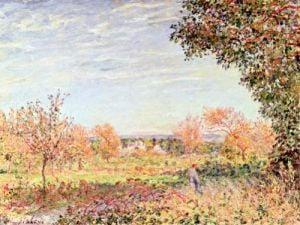 September Morning c.1887 by Alfred Sisley