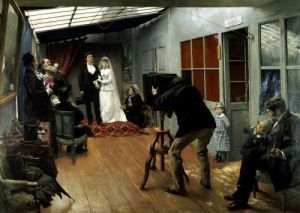 Wedding at the Photographer's 1878 by Pascal Adolphe Jean Dagnan-Bouveret
