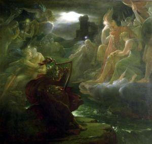 Ossian Conjuring up the Spirits on the Banks of the River Lora 1801 by Baron Francois Pascal Simon Gerard