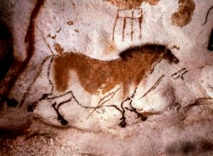 Rock painting of a horse by Anonymous