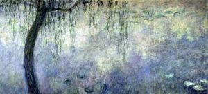 Waterlilies - Two Weeping Willows 1914 by Claude Monet