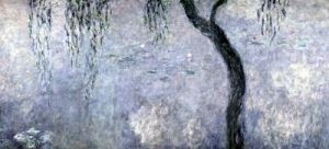 Waterlilies' Two Weeping Willows (right section) 1914 by Claude Monet