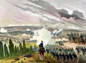 The Battle of Sedan 1870 by German School