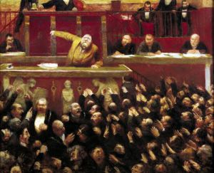 Jean Jaures Speaking at the Tribune of the Chamber of Deputies 1903 by Jean Veber
