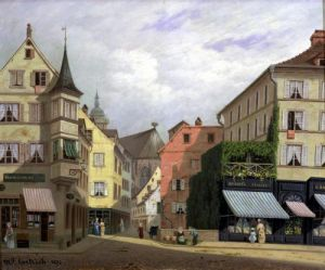 Maison Mathieu Grand-Rue Colmar 1876 by Michel Hertrich