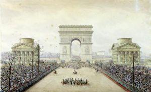 Entry of Napoleon III into Paris Arc de Triomphe1852 by Theodore Jung