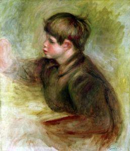 Portrait of Coco painting c.1910 by Pierre Auguste Renoir