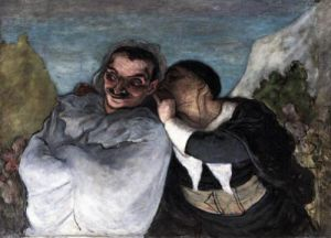 Crispin And Scapin by Honoré-Victorin Daumier