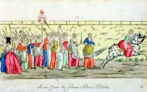 Advanced guard of the women going to Versailles 1789 by French School