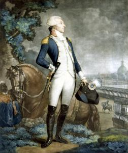 Portrait of the Marquis de La Fayette commander of the National Guard 1790 by Philibert Louis Debucourt