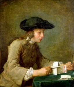 The House of Cards by Jean Baptiste Chardin