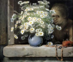 The Bouquet of Margueritas by Jean Francois Millet