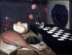 Still Life with Chess-board 1630 by Lubin Baugin