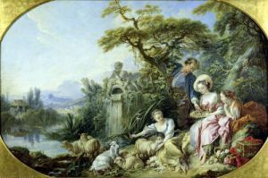 The Shepherd's Gift by Francois Boucher