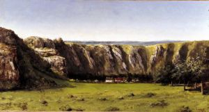 Rocky landscape near Flagey by Gustave Courbet