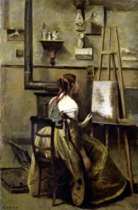 The Studio of Corot 1868 by Jean-Baptiste-Camille Corot