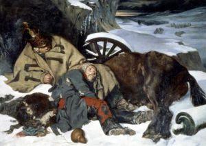 Scene from the Retreat from Russia 1835 by Joseph Fernand Boissard de Boisdenier