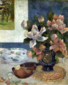 Still Life with a Mandolin 1885 by Paul Gauguin
