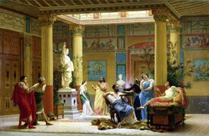 A Performance of 'The Fluteplayer' in the 'Roman' house of Prince Napoleon III 1861 by Louis Boulanger