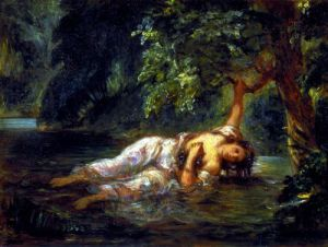The Death of Ophelia 1844 by Eugene Delacroix