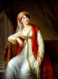 Madame Guiseppina Grassini in the Role of Zaire 1805 by Marie Elisabeth Louise Vigee-Lebrun
