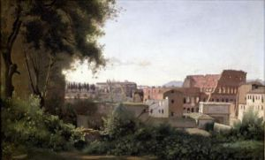 View of the Colosseum from the Farnese Gardens 1826 by Jean-Baptiste-Camille Corot