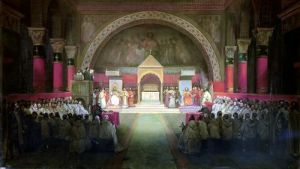 The Chapter of the Order of the Templars held at Paris 1844 by Francois-Marius Granet